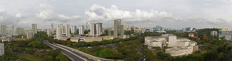 I took this photo from my apartment – you can see that Singapore really has a lot of greenery.